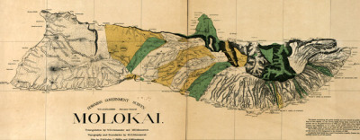 Map: Molokai, Hawaii in 1879 originally posted to the BIG Map Blog.