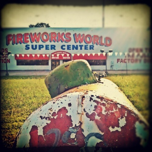 propane and fireworks.  #juxtaposed #juxtaposition #jux  (Taken with Instagram at Fireworks World)