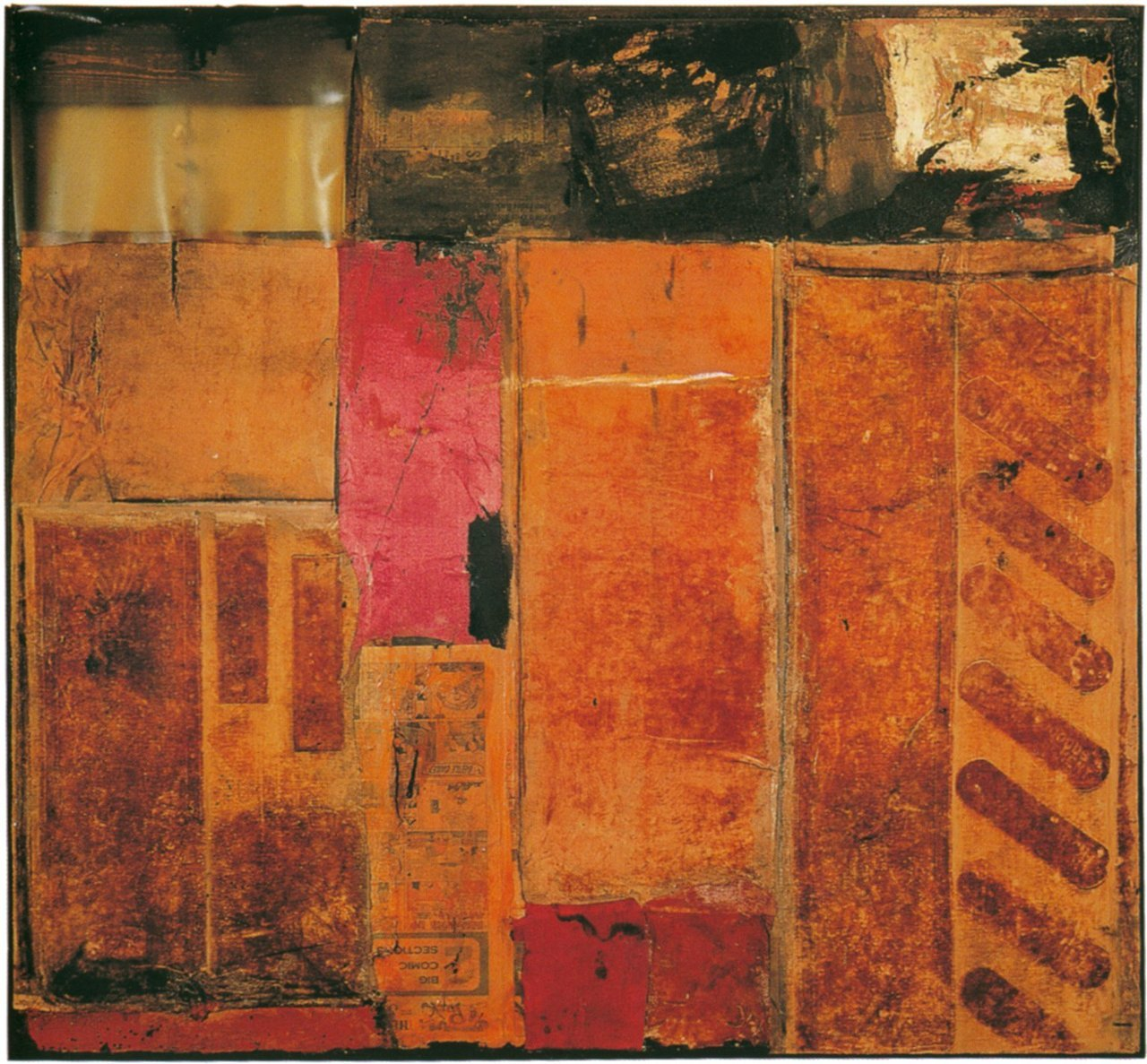 workman:  palmofmyhands: Robert Rauschenberg, Red Interior, 1954