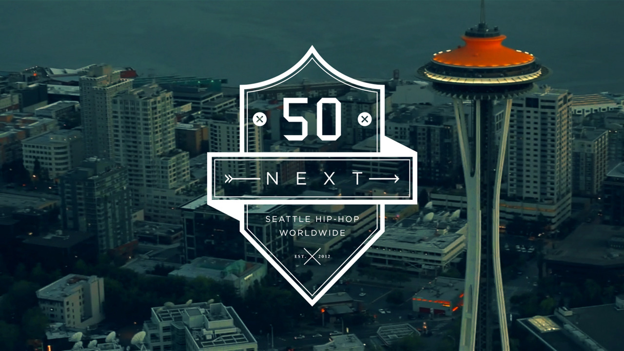 My next project, 50 Next: Seattle Hip-Hop Worldwide, goes live tonight at midnight! This project, a time-capsule and an online experience, will feature a 30 minute short film and a 76 track music compilation featuring various Seattle Hip-Hop acts. Make sure to check it out!