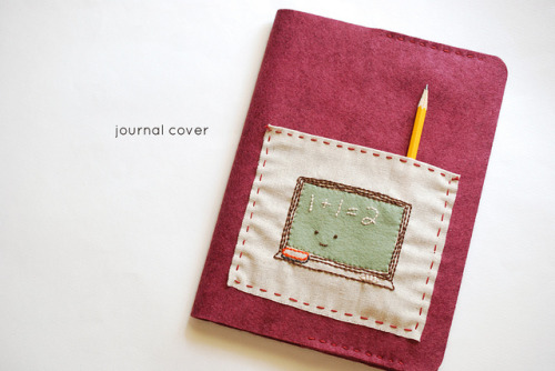 (via Wild Olive: project: felt journal cover (with pocket!))