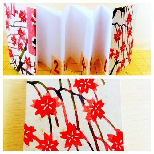Accordion book I made in bookmaking #crafts (Taken with Instagram)