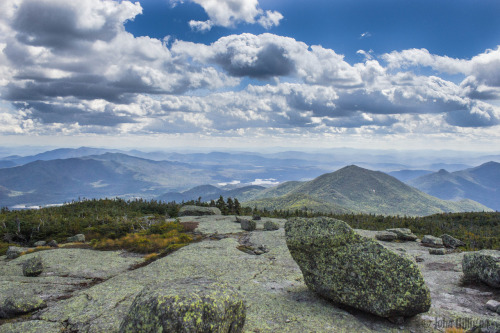 Mount Skylight, Adirondack High Peaks - 9/2/12 (Santononi Range to the left, Redfield and Cliff to the right)
