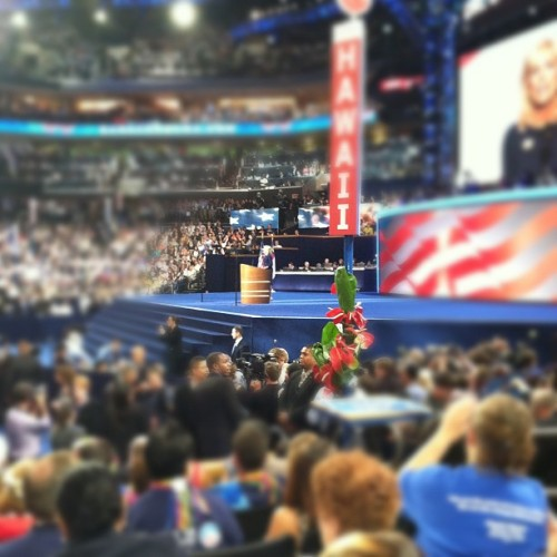 "Dr. Jill Biden ""For me being a teacher isn't what I do, it's who I am."" #dnc2012 #clt  (Taken with Instagram at #DNC2012 Convention Hall)"