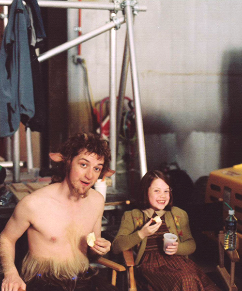 James McAvoy and Georgie Henley on the set of The Chronicles of Narnia: The Lion, the Witch and the Wardrobe.  I feel so old ):