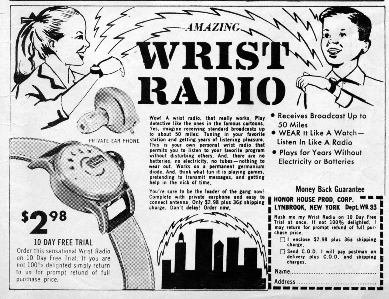 - Amazing Wrist Radio - Comic Book Ad, circa 1961.