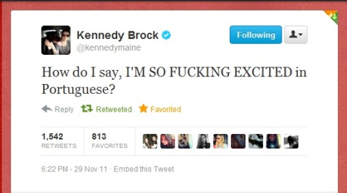 whocaresifwemakeitup:  Your favorite tweet of Kennedy.