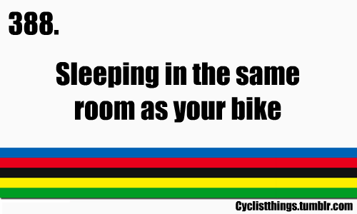 or sleeping in the same room as THREE bikes!!