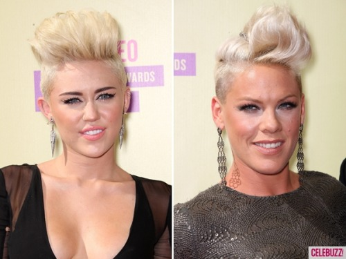 Blonde sky-high hair showdown! Miley or Pink?