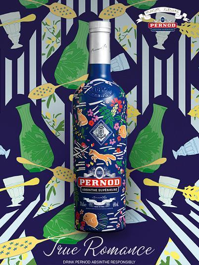 True Romance by Forward Pernod Absinthe Maison Kitsuné Limited Edition Bottle (1805 bottles)