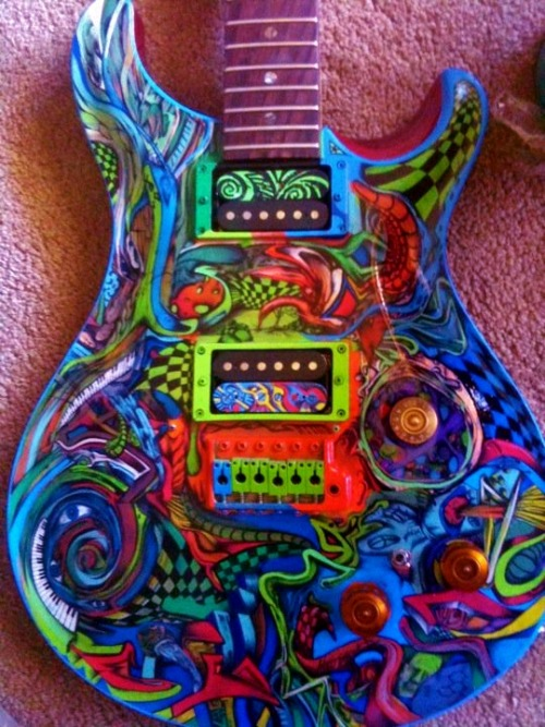 - Insane details on this guitar by Matt Tomczyk -
