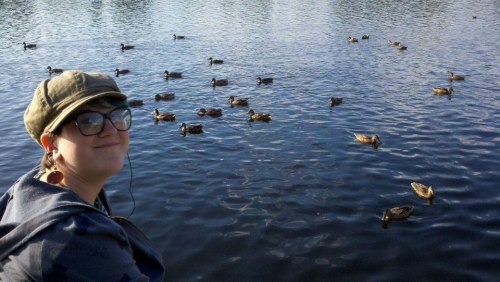 Me with some ducks in New York state :)