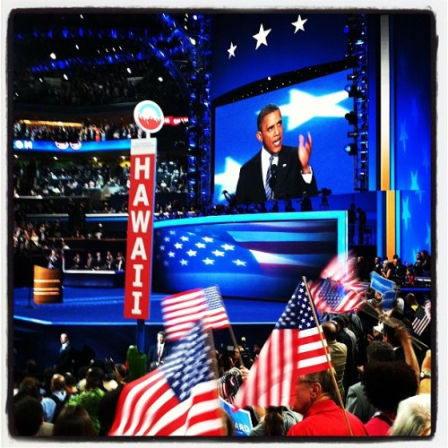 President Obama!!!! #dnc2012  (Taken with Instagram at #DNC2012 Convention Hall)