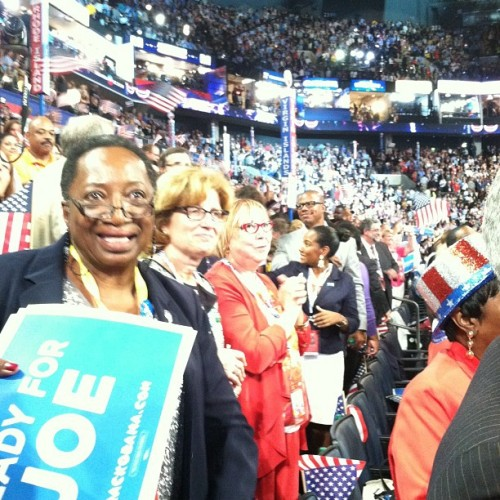 PA Delegation #dnc2012 #clt  (Taken with Instagram at #DNC2012 Convention Hall)