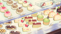 fuckyeahanimefood:  Polar Bear contemplates dessert, Shirokuma Cafe, Episode 23.