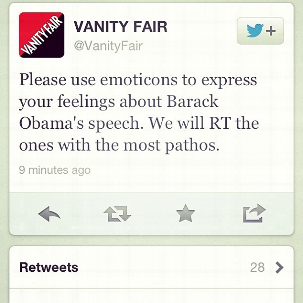 Whoever is running the @VanityFair twitter account is super drunk right now, it seems.   (Taken with Instagram)