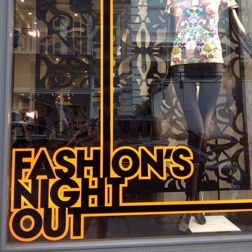 | my TOPS | my highlights of Fashion's Night Out  Waiting patiently in line at @DVF made Troy and I think about how we need to become real big deals in NY before next year.:)  But despite that we had lots of fun visiting stores in the Meatpacking District and purchasing items from The Shops at Target and the great temporary stores that have been set up under The High Line next door to DVF. Definitely worth checking out if not only for the food. ( They will be there through October) AND I heard a rumor of AMAZING Thai inspired hot dogs from Asian Dog. ;)