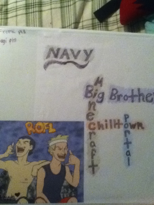 chilltowninmypants:  My binder for school… God, I miss Mike and Will so much. Turns out a fellow teacher-in-training(aka teacher assistant) likes Big Brother! I'm so luckyyyy :3  Genius.