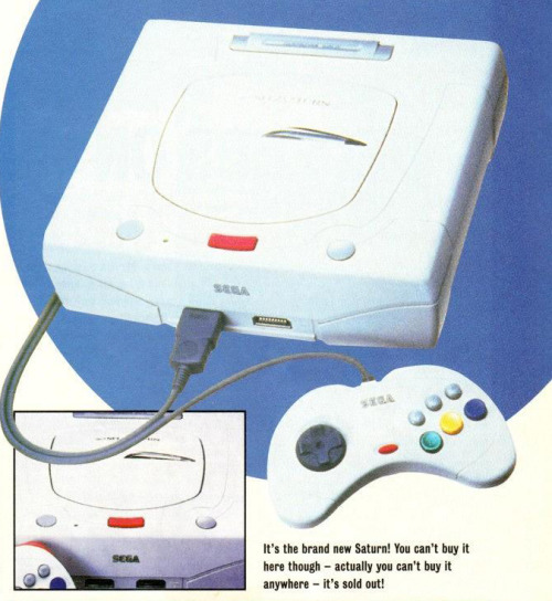 (Official Sega Saturn Magazine, May 1996) A Saturn in Dreamcast's clothes.
