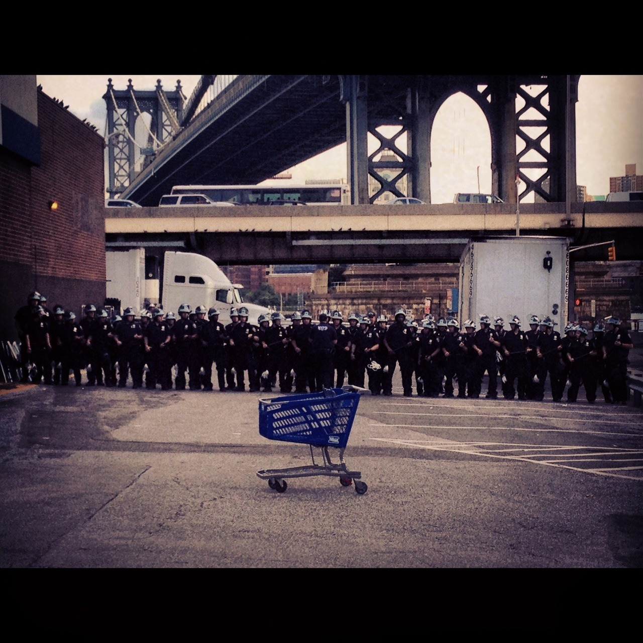 NYPD vs Shopping Cart / Pathmark / 227 Cherry St / Two Bridges, NYC / 09.05.12 / 5:55PM