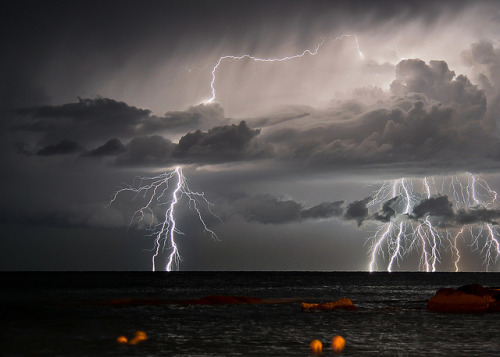 Sudden lightning storm by Gulf of Genoa by Francesco Magoga Photography on Flickr.