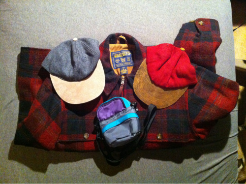 Thrift store finds today. Woolrich jacket is a large and way too big on me but it was too nice to pass up so I'll probably put it up for sale.