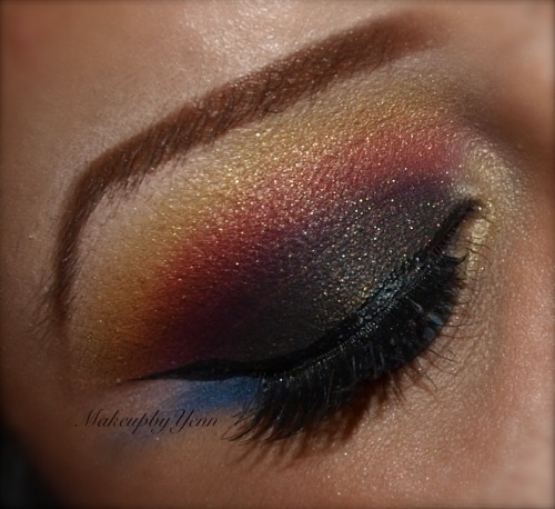 Colorful Smokey Eye   Fairytales Forever  For more looks visit itstheeprincess.tumblr.com  Like my Facebook Page:  https://www.facebook.com/FairytalesForever Follow me on instagram! @makeupbyyenn