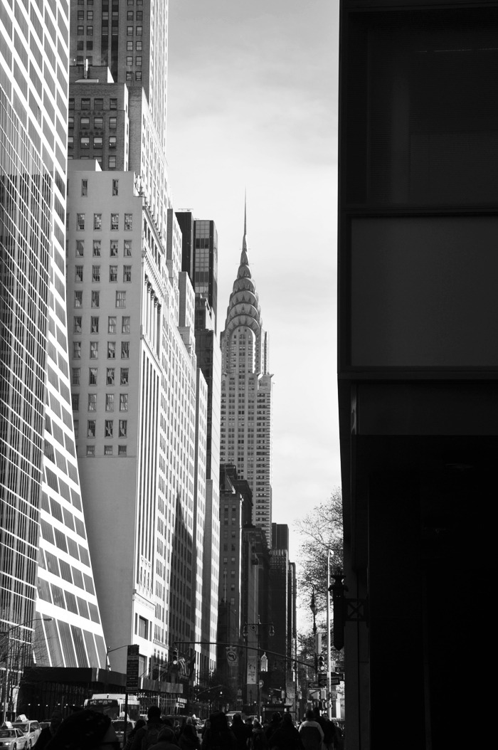 chrysler building. new york. december 2010.