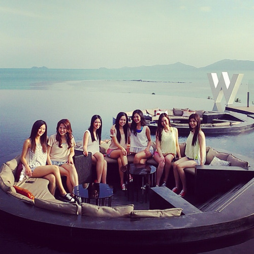 Top Ten Miss Hong Kong 2012 in Koh Samui, Thailand.