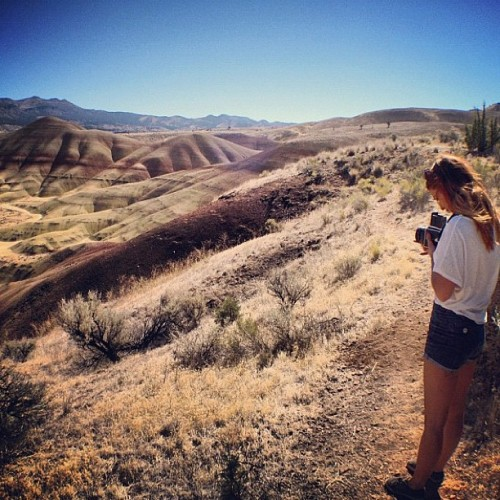 Aumie captured me capturing the Painted Hills with Mithril. (Taken with Instagram at Painted Hills, Oregon)