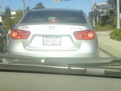 Cars license plate that cut me off today, 666 KILL .. also right in front of a funeral home