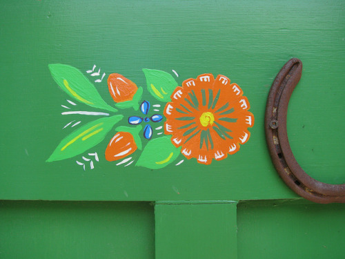Folk art door  by Helen Heath on Flickr.