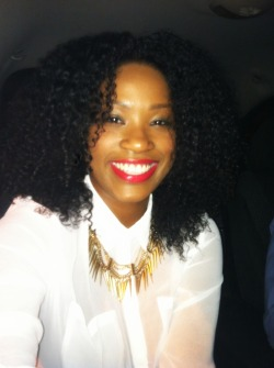 stayrosey:  Took my fro out on the town.