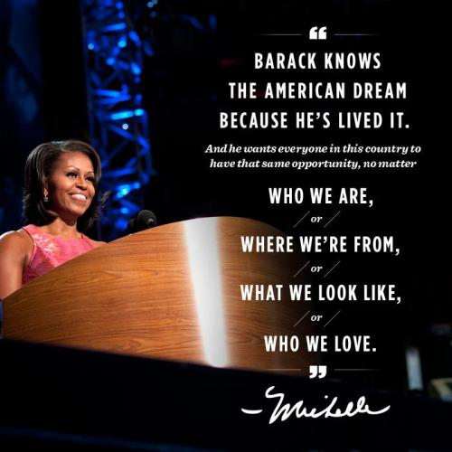 Is it just me or does Michelle's quote sound like a Backstreet Boys song?