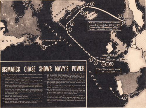 Bismarck Chase Shows Navy's Power Parade June 1941