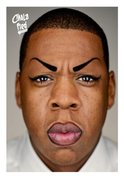 cholafied:  Jay Z aka Chola HOVA - Kim K Sit Yo @ss Down  LMFAO