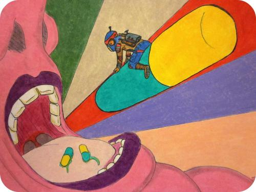 Illustration trippy drugs space colors colours surreal for Drugs in space