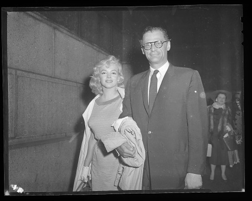 May 23rd, 1957. Marilyn and Arthur Miller going back to New York.