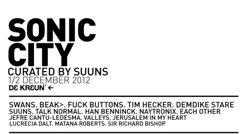 BEAK> play Sonic City in Belgium in December»»»