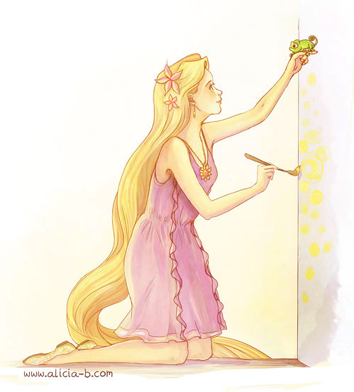 alicia-mb:  Rapunzel DisneyBound! It could be even be her summer outfit :) (Here's the original outfit) Sadly couldn't find a spot to add the bag!