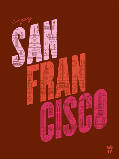 Enjoy San Francisco Poster