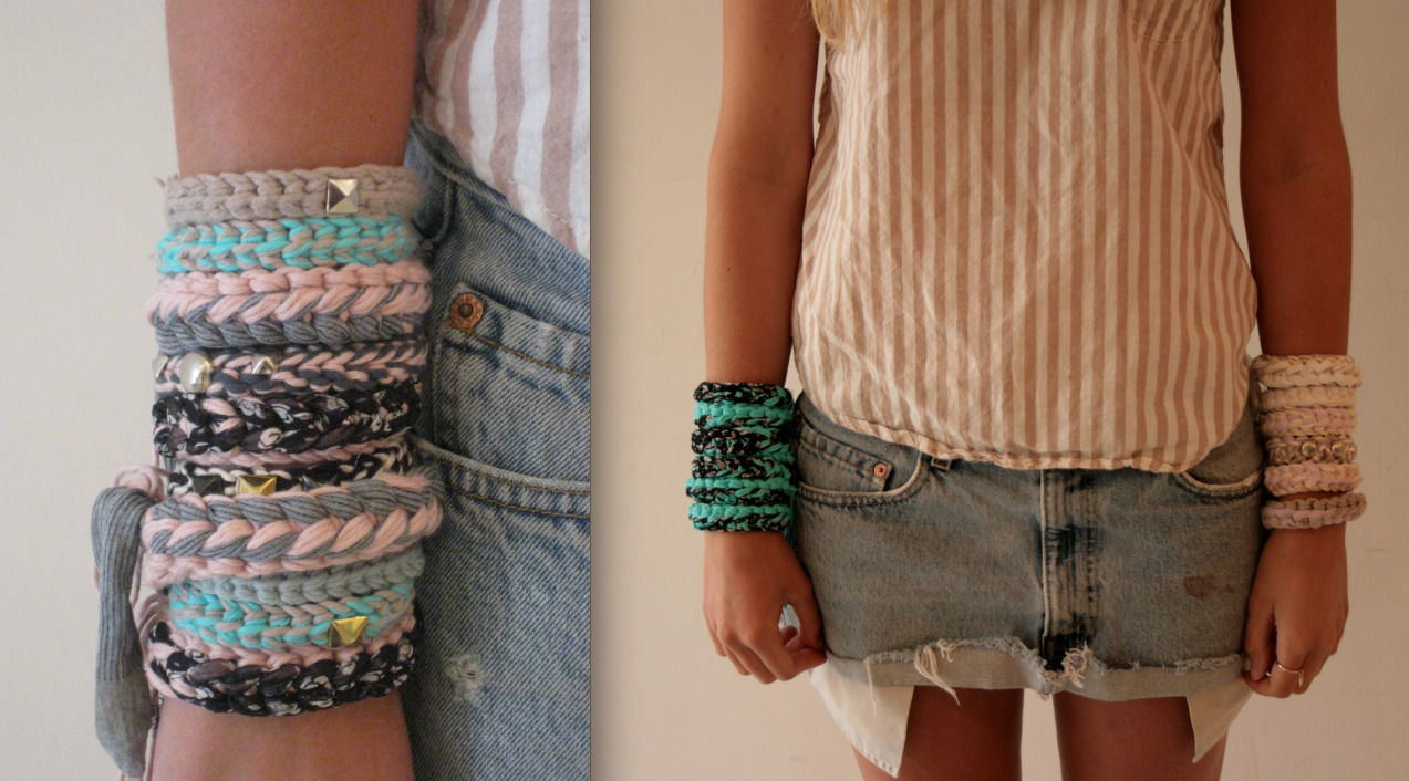 Whose tried knitting up these quick and easy bracelets?To get the pattern, download here: http://bit.ly/NUZ6ff