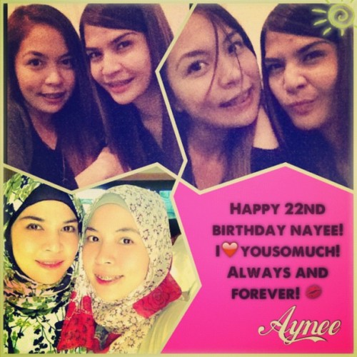 Happy 22nd birthday to my beloved sister! Mmmmmwwwaaaah! #instacollage (Taken with Instagram)