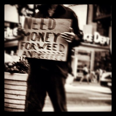 Someone get this dude a dime bag!!! #homeless #street #timesquare #streetphotography #broadway #photography #garyyoungphoto #weed #guy (Taken with Instagram at Time Square NYC)