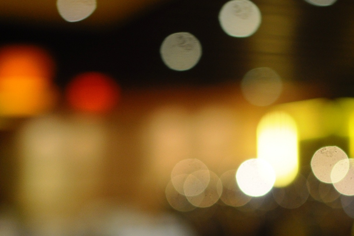 in the restaurant bokeh