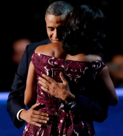 """Michelle, I love you. The other night, I think the entire country saw just how lucky I am."" — Pres. Barack Obama"
