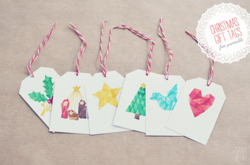 (via oana befort: Christmas gift tags ~ a free printable)