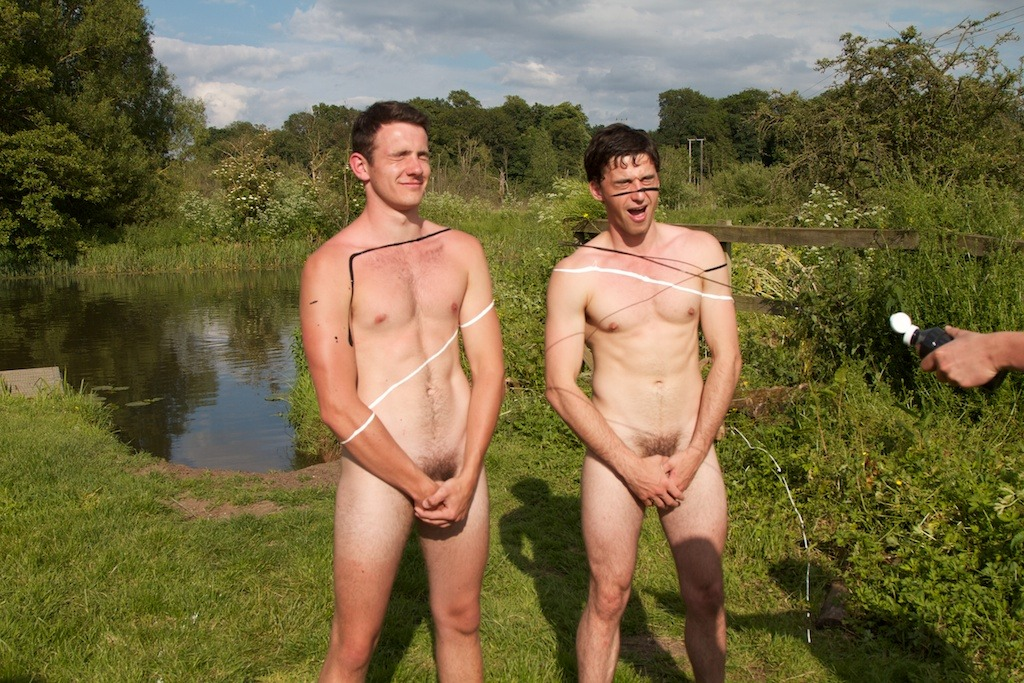 5/55 Two of the @naked_rowers, getting messy.  Collect all the pics and get a free gif!  Click the pic to find out how.