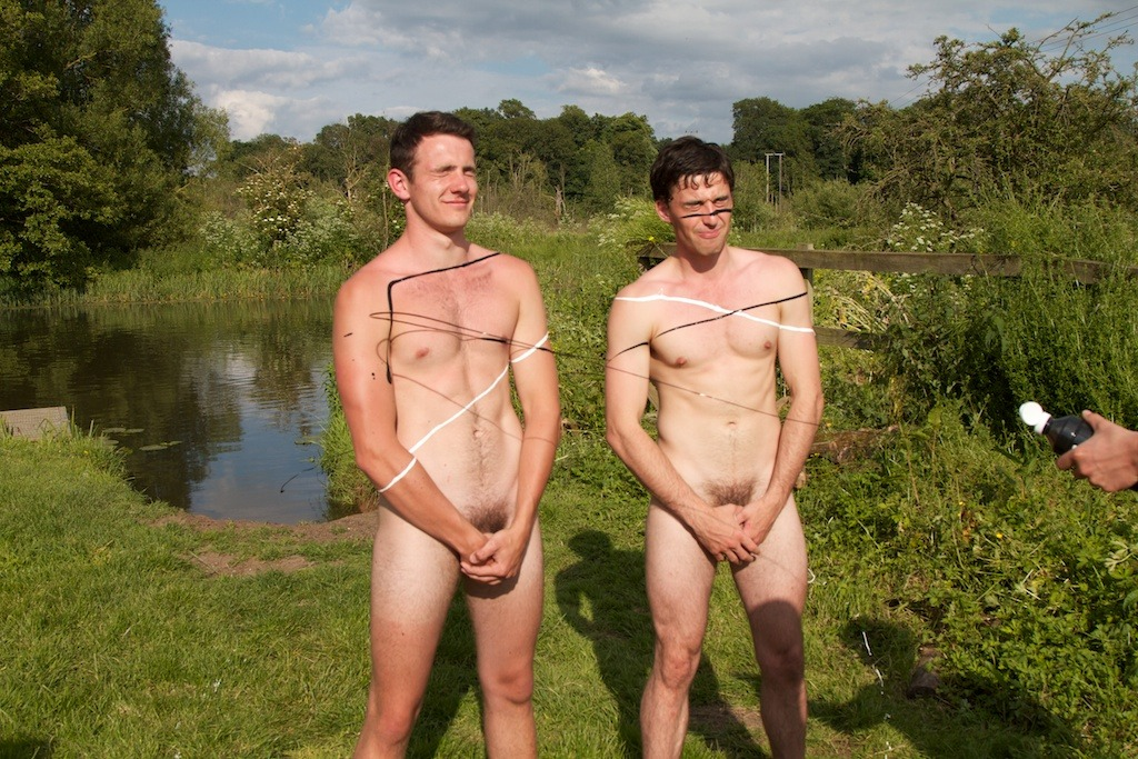 6/55 Two of the @naked_rowers, getting messy.  Collect all the pics and get a free gif!  Click the pic to find out how.