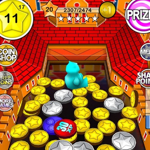 Level 19 in two days. This is addictive. #coindozer #game  (Taken with Instagram)